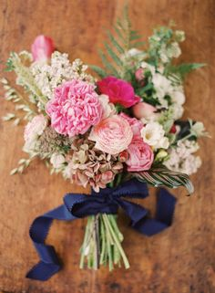 Navy + pink wedding ideas | Real Weddings and Parties | 100 Layer Cake