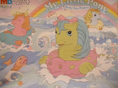 My Little Pony Baby Sea Ponies puzzle 24 pieces . My Little Pony Baby, Vintage My Little Pony, Original My Little Pony, My Little Pony Stickers, Kawaii Makeup, Childhood Toys, Small Gifts, Vintage Toys, Board Games