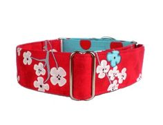 Cherry Blossoms Martingale Dog Collar by TheEclecticHound on Etsy! $28