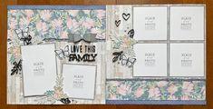 Scrapbook Sketches, Scrapbooking Layouts, Scrapbook Pages, Page Layout, Book Layouts, Page Maps, 6 Photos, Wedding Scrapbook, Layout Inspiration