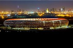The stunningly dramatic FNB Stadium in Johannesburg, South Africa Soccer City, Soccer Stadium, Football Stadiums, Africa Travel, Countries Of The World, Places To See, South Africa, Beautiful Places, Amazing Places