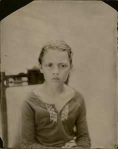 "This is an 8x10"" Wet Plate Collodion Ambrotype on clear glass Lili Charles. by: Angie Brockey"