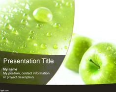 Bottled water powerpoint template is one of the best powerpoint this is green apple powerpoint template a free ppt template with fruit image in the toneelgroepblik Gallery