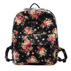 Meilaier Printing Canvas Backpack Rucksack for Teen Girls College School Bookbag Bags