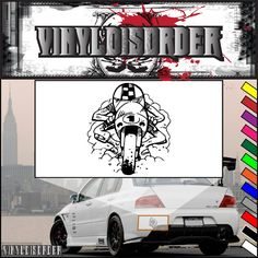 Speed racer Motorcycle - Wall Decal - Vinyl Decal - Car Decal - CD134