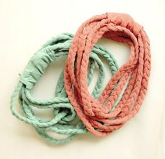 t-shirt yarn braided headbands how to