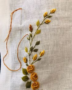 Hand Embroidery Patterns Flowers, Hand Embroidery Videos, Flower Embroidery Designs, Creative Embroidery, Hand Embroidery Stitches, Bullion Embroidery, Embroidery Shop, Embroidery On Clothes, Learn Embroidery