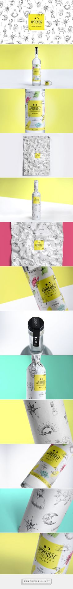 APRENDIZ Mezcal packaging designed by TORO PINTO - http://www.packagingoftheworld.com/2015/09/aprendiz-mezcal.html