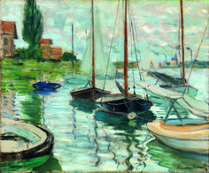 Claude Monet Boats Moored at Le Petit-Gennevilliers, 1874 Photo credit John R. Glembin