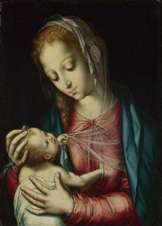 Luis de Morales (c.1509-1568) — Madonna and Child (573x800)