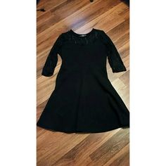 Black dress Has lace sleeves, worn once, in great condition! Very stretchy material! Dresses Long Sleeve