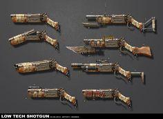 ArtStation - Low tech shotgun, Randis Albion