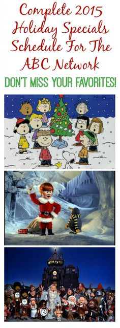 Check out the second character with the Santa outfit.... Look familiar? It's vaguely similar to the main character from the leprechaun-crying-witch cartoon short!  Attached is the ABC schedule for the season. : )