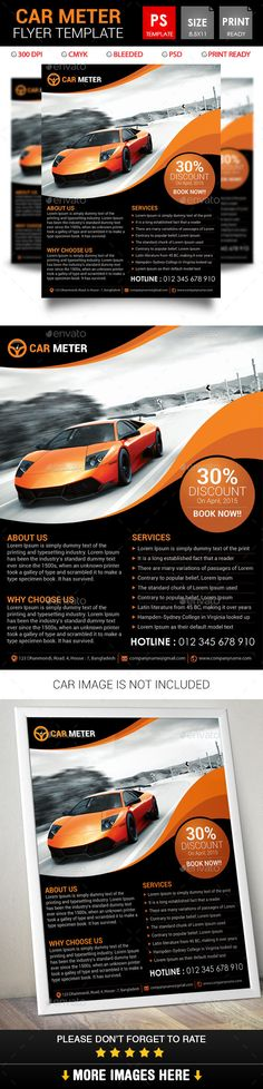 Car Sale Show Flyer Flyer template, Template and Cars - car flyer template