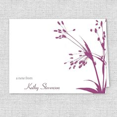 Wild Foliage Silhouette Note Cards  Set of 10  by AJsPrints, $12.50