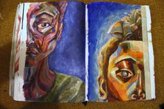 AS Level, 12. Self-portraiture. Final piece composition ideas.
