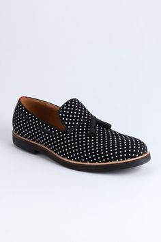 dotted loafers