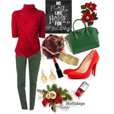 """""""Christmas at Home"""" by veradediamant on Polyvore"""