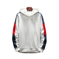S-6XL Mens Hoodie Cotton Tops Pullover Sweater Full Length Outwear 3Color Ths01