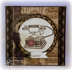 Stampin with Inky Fingers: Call Me!