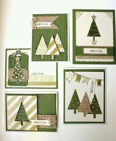 Look at the webpage to read more about Handmade Christmas Cards Homemade Christmas Cards, Christmas Cards To Make, Homemade Cards, Handmade Christmas, Holiday Cards, Christmas Diy, Simple Christmas, Christmas Trees, Stampin Up Weihnachten