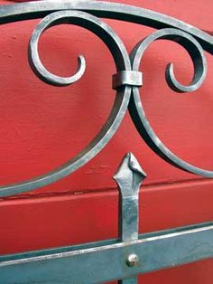 Spanish Colonial  Entry Gate, hand-forged iron
