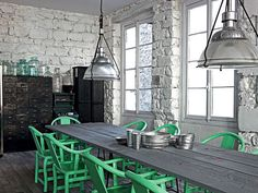Sala de Jantar Estilo Industrial