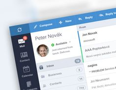 Redesign of Ice Warp e-mail client.