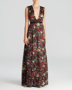 Alice + Olivia Maxi Dress - Triss Romantic Floral Silk | Bloomingdales's