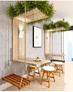 Ideas For Design Furniture Shop Deco Deco Restaurant, Outdoor Restaurant Patio, Diy Home Decor, Room Decor, Coffee Shop Design, Interior Design Coffee Shop, Interior Design Plants, Best Interior Design, Interior Ideas