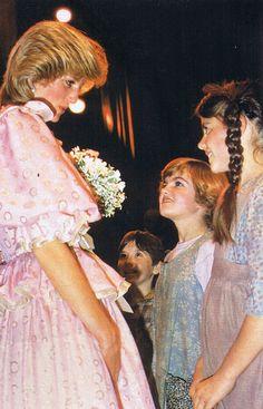 April 14, 1983: Princess Diana attends the Royal Gala Concert, Melbourne Concert Hall in Victoria, Australia.