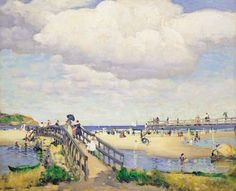 "Leon Kroll, ""Good Harbor Beach,""  1912, oil on canvas, 26 x 32"", private collection."