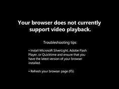 Your browser does not support video. Install Microsoft Silverlight, Adobe Flash Player, or Internet Explorer 9.