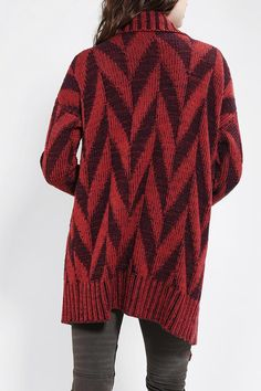 Comfy, open-front cardigan.