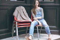 Distressed denim overalls #Boho