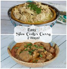easy curry 2 ways