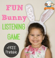 Bunny Listening Game for #preschool and #kindergarten with FREE printable