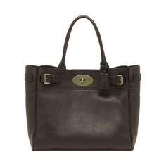 Mulberry - Bayswater Tote in Chocolate Natural Leather Purses And Bags ca701a8e2c36b