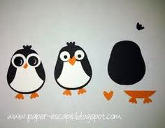 penguin from the owl builder punch stampin up - Google Search