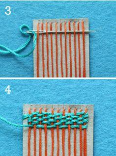 cómo hacer un telar casero y tejer con dedos
