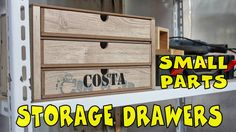DIY: Small parts storage drawers made of scrap laminate flooring and scrap plywood. Portaminuterie realizzato con scarti di laminato per pavimenti e multistr...