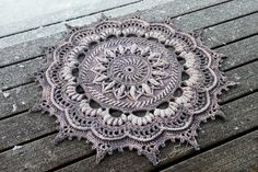 Crocheted and dyed mat