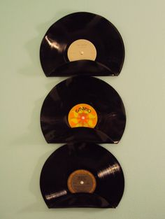 Upcycled Repurposed Vinyl Record Mail Holders by BreakTheRecord, $39.00