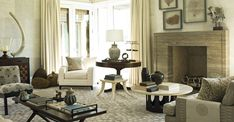 Stephen Gambrel, Bridgehampton, New York While the living room of his Manhattan home took to the sea in varying shades of cerulean, at this Long Island beach house, Gambrel let tones of sand and stone serve as his guide. The palette may evidence the audacity of taupe, but the final result — with its smartly combined prints, patterns and materials, and its scattering of organic objects and ephemera — is the furthest thing from beige.