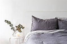 Dark Grey Stonewashed Soft Pure Linen Queen Duvet - By Jamie Kay Beige Bed Linen, Linen Duvet, King Sheet Sets, Bedroom Green, Bed Spreads, Luxury Bedding, Bed Pillows, Duvet Covers, Interior Design