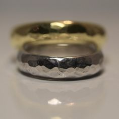 Rough Wedding Band, Yellow, White, Rose or Black Gold, Award Winning Jeweler Unique Wedding Bands, Wedding Rings, White Roses, Black Gold, Silver Rings, Engagement Rings, Jewels, Yellow, Trending Outfits