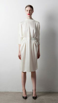 Musthaves - white crisp dress - monstylepin #fashion #dress #trend #musthave
