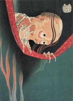 Hyaku monogatari Kohada Koheiji - Katsushika Hokusai