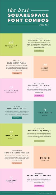 The best Squarespace font combinations for your business (part two)!
