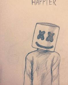 I want you to be happier Marshmello marshmello sketchbook sketching edm happier sketchpractice practice artbeginner learn - pencil-drawings Disney Drawings Sketches, Girl Drawing Sketches, Girly Drawings, Art Drawings Sketches Simple, Simple Cartoon Drawings, Drawing Ideas, Pencil Drawing Inspiration, Drawing Poses, Easy Pencil Drawings